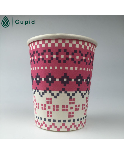 16oz cold drink paper cup with double side pe coated