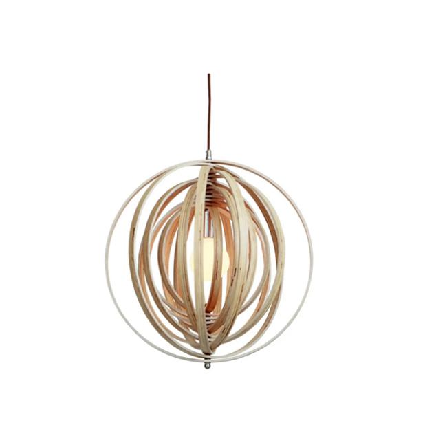 Variable decorative wood pendant lamp