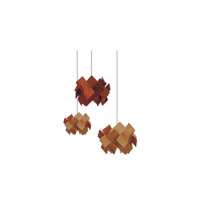 Decorative wood pendant lamps