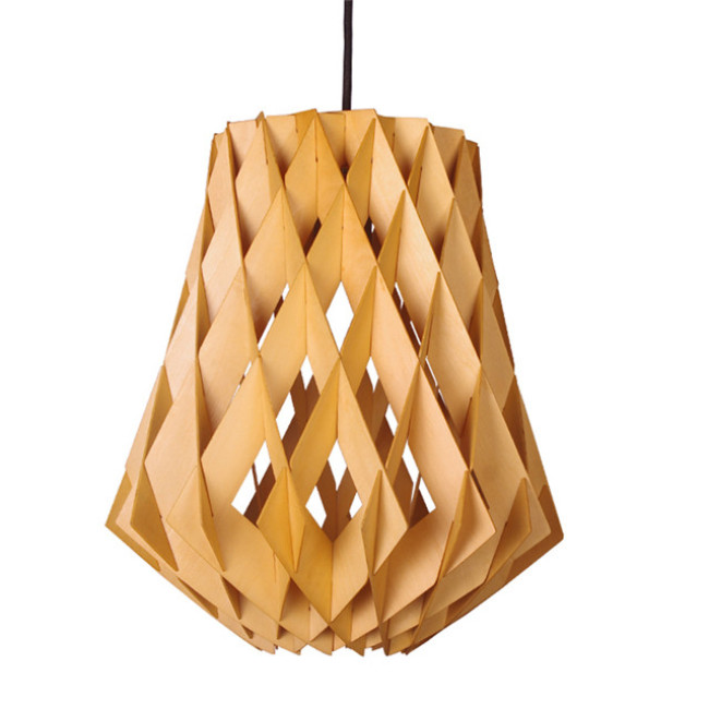 Cage decorative wooden pendant lamps