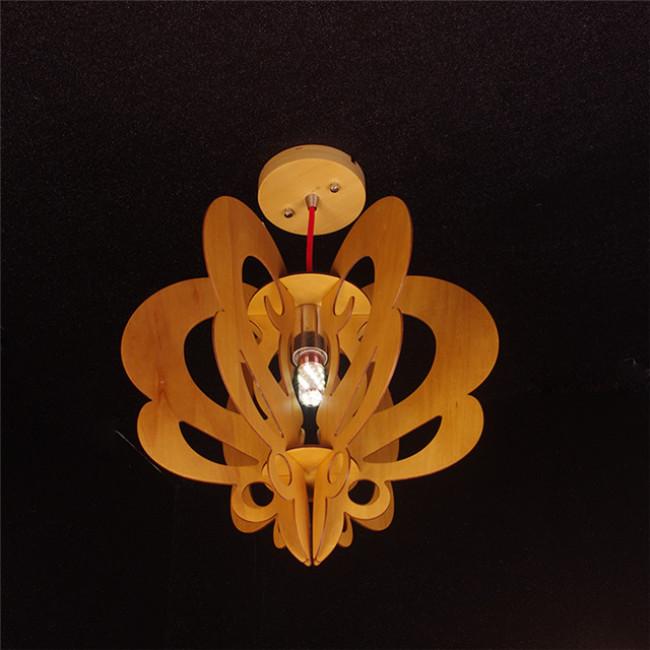 Butterfly wood pendant lamp