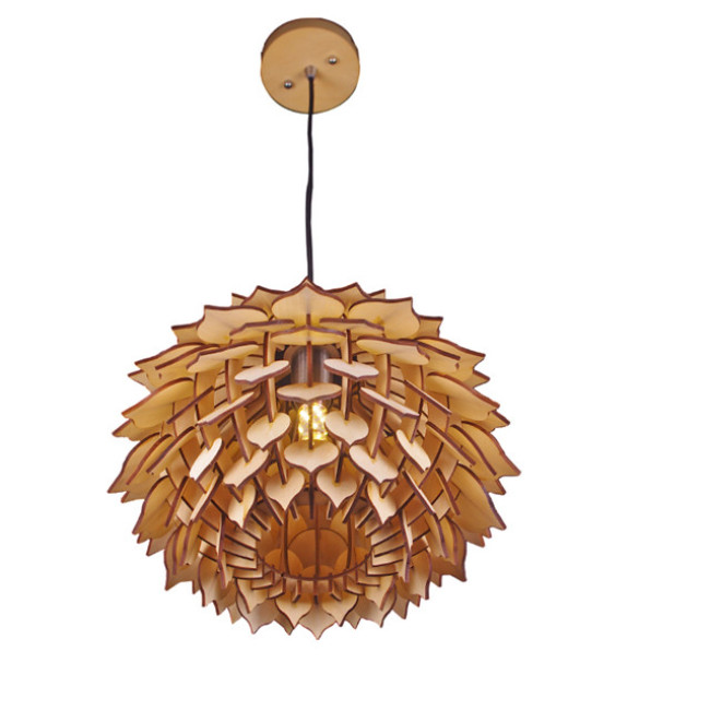Deal Apple wood pendant lamp
