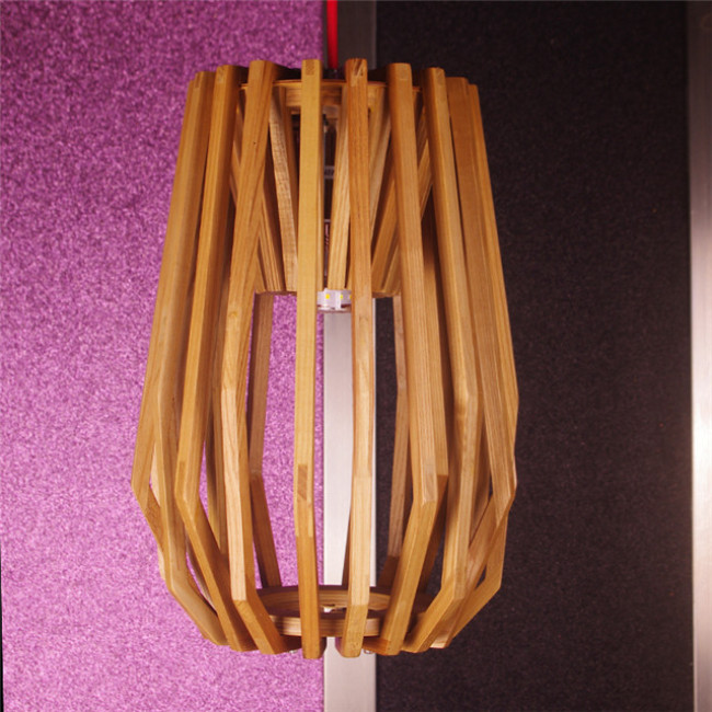 Diamond wood pendant lamp